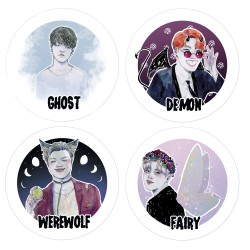 Pack stickers BTS Halloween