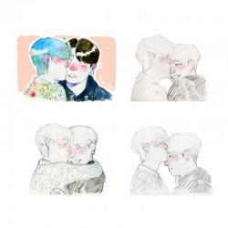 Pack prints Taekook kisses